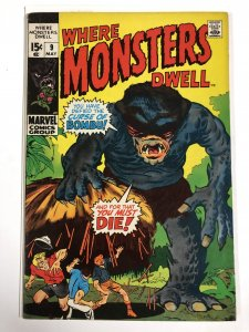 WHERE MONSTERS DWELL 9 F- May 1971 COMICS BOOK