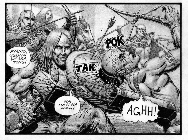 SEAN PATTY original art, WORGARD VIKING BERSERKER, 11x17, 2011, Battle, pg 16