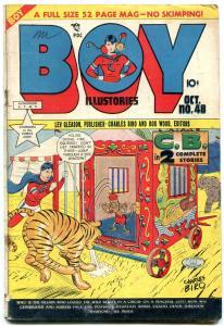 BOY COMIC #48 1949-CHARLES BIRO-TIGER COVER-CRIMEBUSTER VG