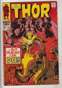 Thor, the Mighty #153 (Jun-68) FN/VF Mid-High-Grade Thor
