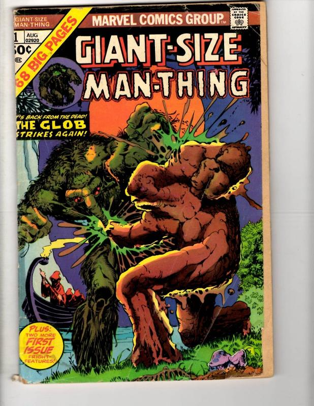 4 Marvel Comics Giant-Size Man-Thing 1 + Astonishing Tales 20 24 Red Wolf 8 J291