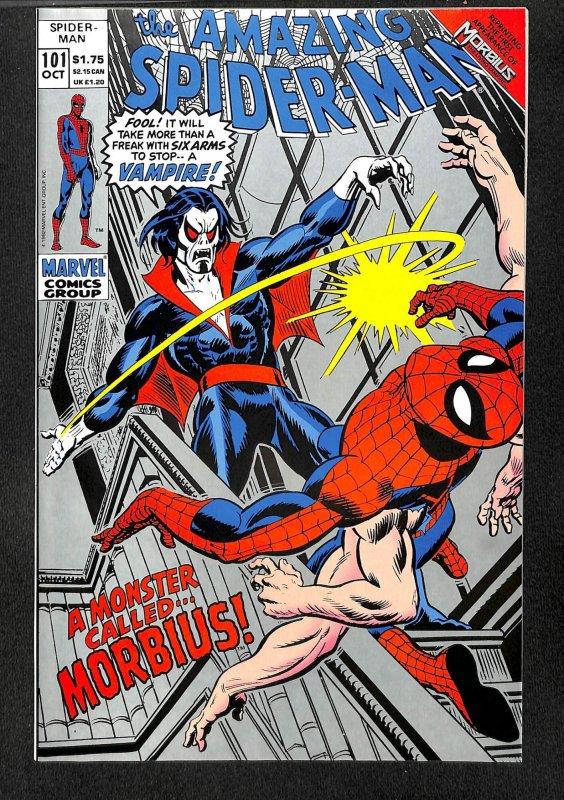 Amazing Spider-Man #101 VF/NM 9.0 1st Morbius! 1992 Reprint Second Print