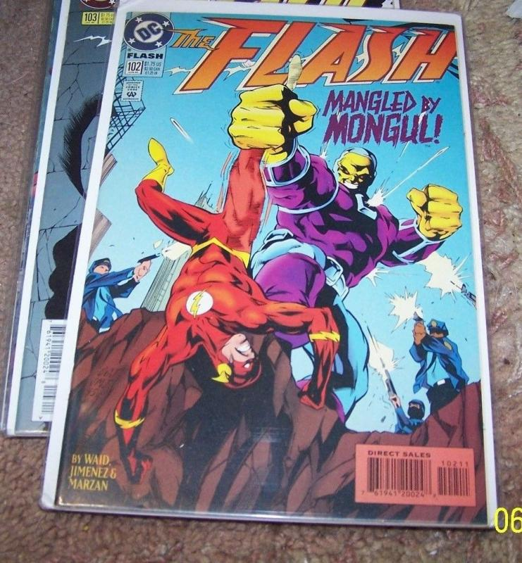 FLASH # 102 HOT cw tv show   vs mongul WALLY WEST
