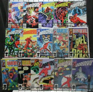 Daredevil (Marvel 1983-87) #201-239 Lot of 16Diff Black Widow Kingpin ++
