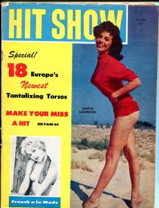 Hit Show 3/1959-shapely pin-ups-cheesecake-Marlee Sanderson-swimsuit pix-VG