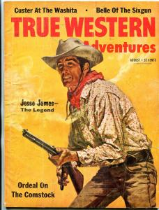 True Western Adventures Magazine August 1961- Custer- Jesse James VG