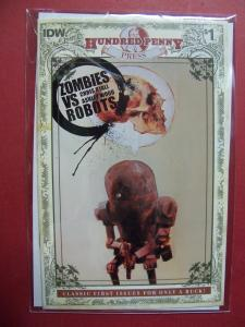 ZOMBIES VS ROBOTS #1    (9.0 to 9.4 or better)  IDW