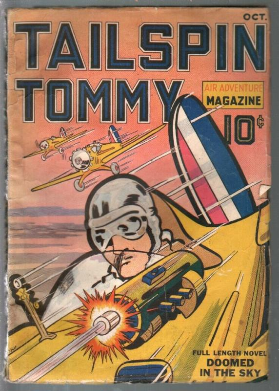 Tailspin Tommy Air Adventure Magazine #1 10/1936-CJH-Hal Forrest-VG-