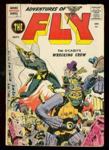 THE FLY #2 1959-WRECKING CREW-ARCHIE-ROBOTS-KIRBY ART VG