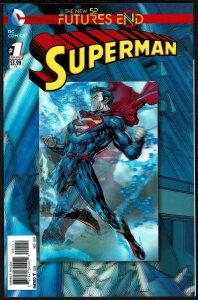 Futures End Superman 3-D Cover (2014, DC) 9.6 NM+