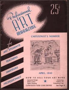 Professional art Magazine 4/1940-Cartoonist's Number-Hitler-Disney-FN