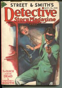 DETECTIVE STORY 9/21/1931-VIOLENT PULP THRILLS-HANDCUFFS-MASKED GUNMAN-fn