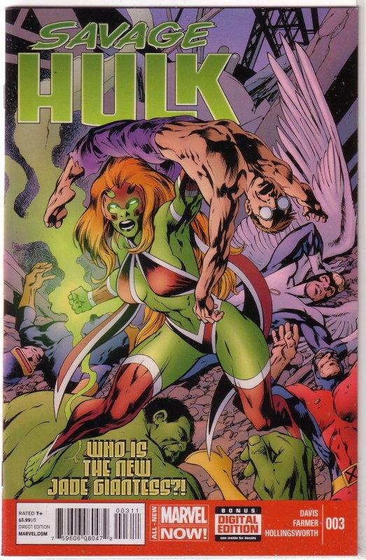 Savage Hulk (vol. 2, 2014) #  3 VF/NM (All-New Marvel Now) Alan Davis, X-Men