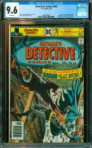 Detective Comics #463 CGC Graded 9.6 1st app. of the Black Spider (Eric Needh...
