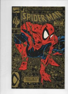SPIDER-MAN #1, NM+, Todd McFarlane, 1990, Gold cover edition 2nd, Marvel