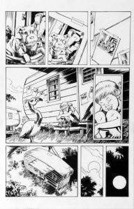 DEAN KOTZ Original Published Art, TRAILER PARK of TERROR #6 page 25, Zombies