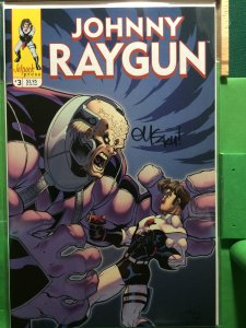 Johnny Raygun #3 signed by Ed McGuinness (eMC2k4)