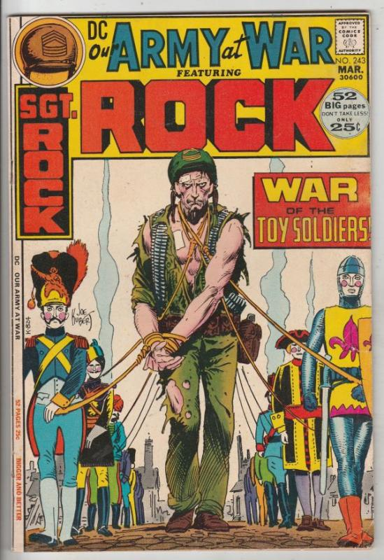 Our Army at War #243 (Mar-72) VF- High-Grade Easy Company, Sgt. Rock