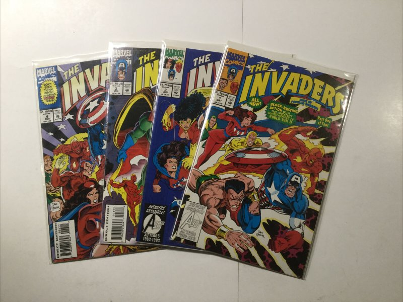 The Invaders 1-4 1 2 3 4 Lot Run Set Near Mint Nm Marvel