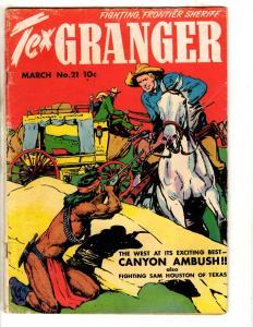 Tex Granger # 21 VG/FN Golden Age Comic Book 1948 Western Cowboys JL14