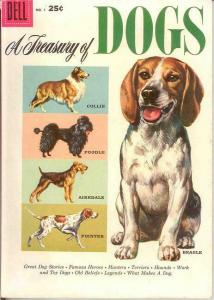 TREASURY OF DOGS 1 F-VF   October 1956 COMICS BOOK