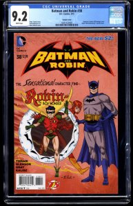 Batman and Robin #38 CGC NM- 9.2 White Pages
