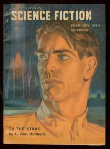 ASTOUNDING SCIENCE-FICTION FEB 1950-L RON HUBBARD-PULP- VF/NM