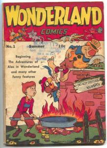 Wonderland #1 1945- Alex in Wonderland- Howard Post- First issue- VG