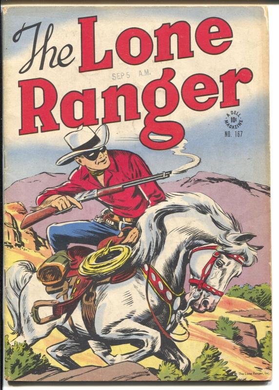 Lone Ranger-Four Color Comics #167-1947Dell-red shirt & blue pants-VG+