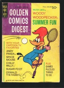 Golden Comics Digest #32 1973-Woody Woodpecker-Space Mouse-Chilly Willy-Tenni...