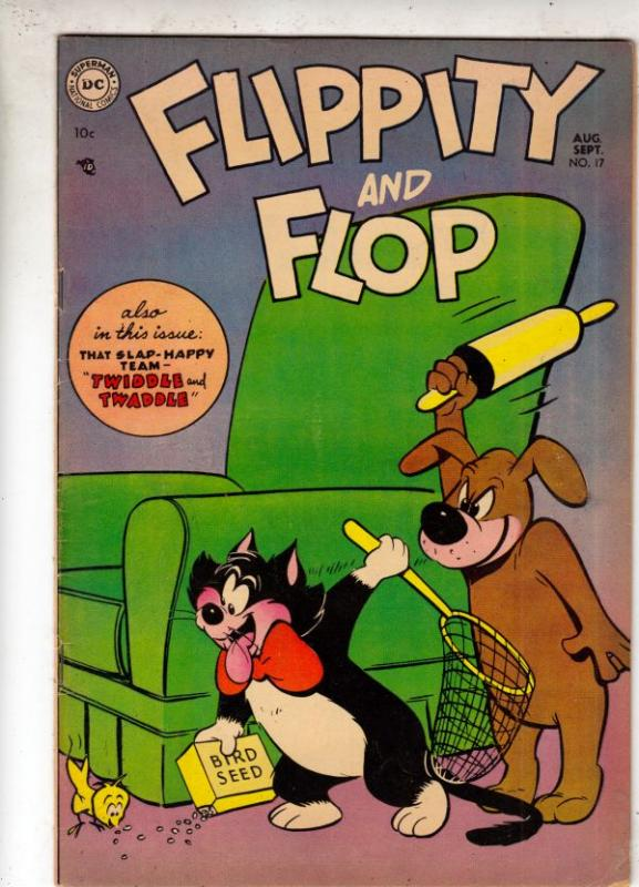 Flippity and Flop #17 (Aug-54) FN/VF- Mid-High-Grade Flippity, Flop