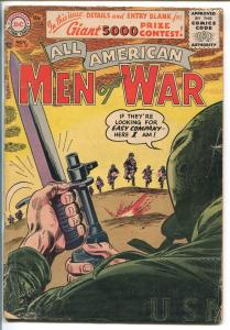 ALL AMERICAN MEN OF WAR #39-1956-WWII-DC-SILVER AGE-SGT ROCK-EASY CO-good/vg