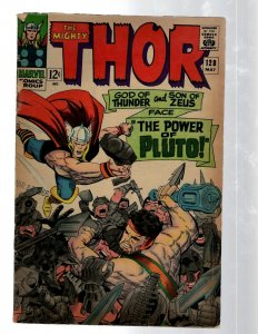 Mighty Thor # 128 VG Marvel Comic Book Loki Odin Asgard Sif Avengers Hulk RB8