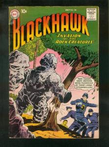 BLACKHAWK COMICS #138 1959-DC COMICS-ROCK CREATURES COVER-fine minus FN-