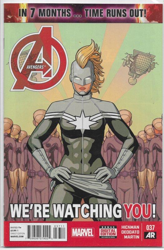 Avengers (vol. 5, 2013) # 37 VF/NM Hickman/Deodato, Captain Marvel