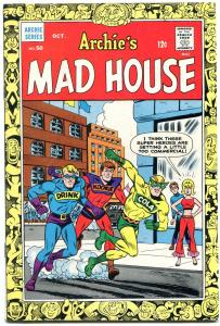 Archie's Madhouse #50 1966-1st First Captain Pumpernik-SABRINA- VF-
