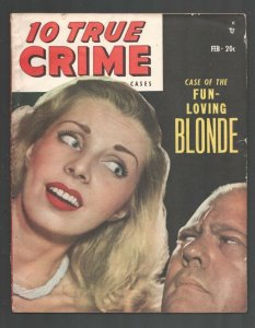 10 True Crime Cases 2/1949-My Husband Was A Hangman-FBI wanted posters-Pulp...