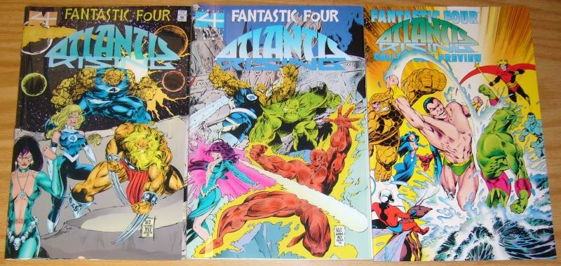 Fantastic Four: Atlantis Rising #1-2 VF/NM complete series + preview - inhumans