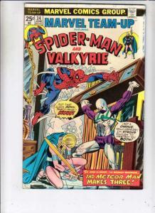 Marvel Team-Up #34 (Jun-75) FN- Mid-Grade Spider-Man