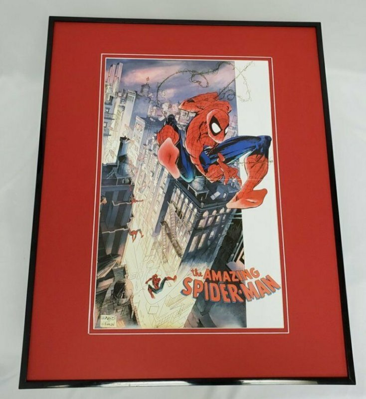 Amazing Spiderman 16x20 Framed Poster Marvel Rick Leonardi