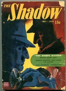 The Shadow Pulp May 1943- THE ROBOT MASTER- Modest Stein cover G/VG