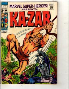 Marvel Super-Heroes # 19 FN/VF Comic Book Ka-Zar Zabu Jungle Smith Trimpe JF11