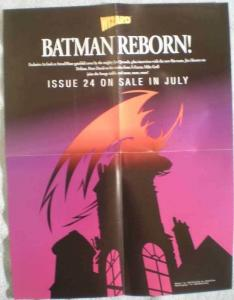 BATMAN REBORN Promo poster,  17x22, 1993, Unused, more in our store
