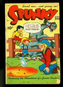 Spunky Comics #1 1949- Frank Frazetta text illos- Western gag cover- G/VG