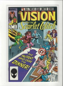 Vision and the Scarlet Witch (1985 series) #6 of 12 Magneto  VF/NM Marvel comics