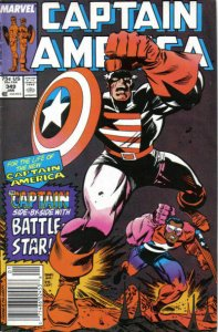Captain America (1st Series) #349 (Newsstand) VF; Marvel   save on shipping - de