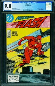 The Flash #1 CGC 9.8 1987 1st Wally West title  DC 2043261012