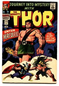 JOURNEY INTO MYSTERY #124 comic book 1966-MIGHTY THOR-HERCULES-SILVER AGE -FN