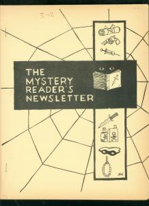 MYSTERY READER'S NEWSLETTER-DEC 1969-BLACK MASK-MR MOTO VG/FN