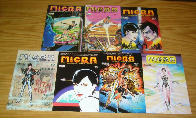 M.I.C.R.A. #1-7 VF/NM complete series MICRA robot good girl comics interview set